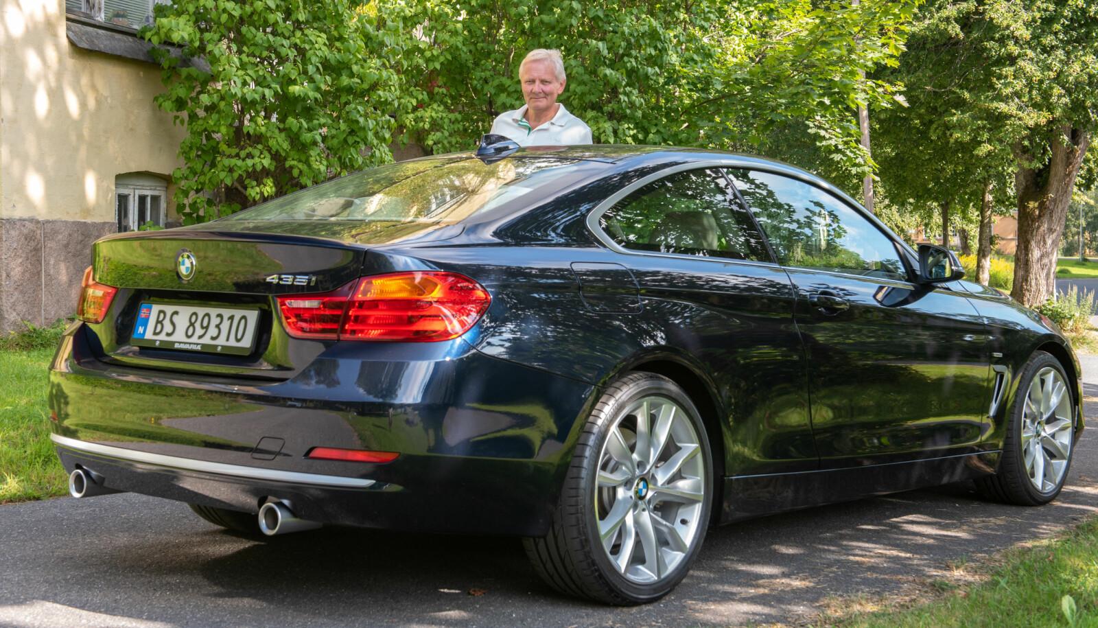 <b>DRØMMEN:</b> – En av de vakreste BMW-ene noensinne er den slanke, store coupéen med fabrikkoden E9, bygget fra 1968 til 1975. Jeg eier selv ingen slik, men tenker at den er selve inkarnasjonen av BMW, sier Stein Pauli Nilsen.