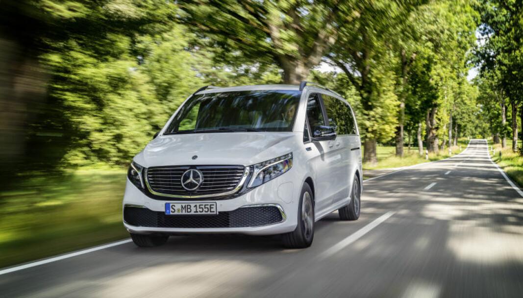 <b>RUVER PÅ VEIEN:</b> Nye Mercedes-Benz EQV er nå i salg i Norge.