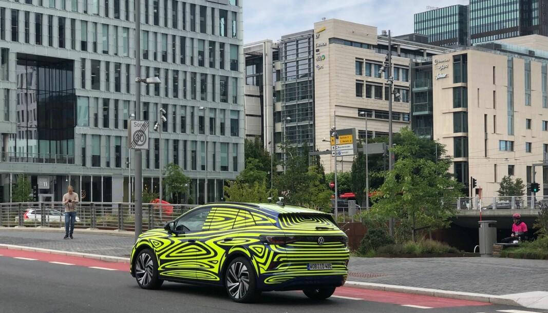 CELEBERT BESØK: VW ID.4 skal offisielt lanseres i slutten av september, men er på snarvisitt i Oslo.