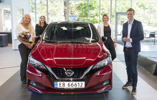 Nissan Leaf nummer 500.000 levert i Norge