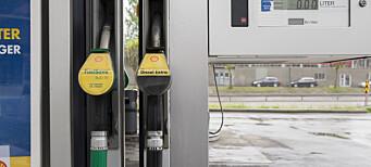 Nedgang i salg av drivstoff