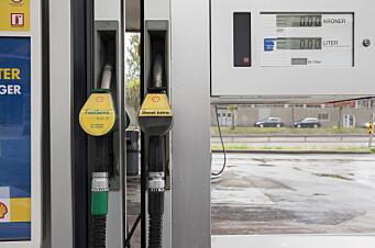 Salg av bensin og diesel falt i september