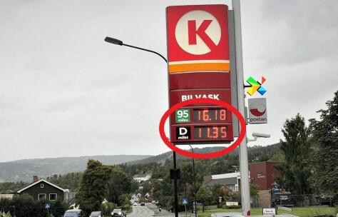 Fem kroner dyrere med bensin enn diesel