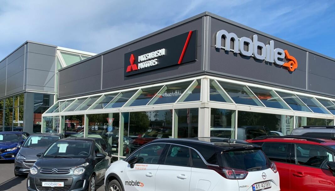 <b>STOR</b>: Mobile er en kjempe i bilbransjen, med blant annet 31 bilbutikker, som denne i Moss.