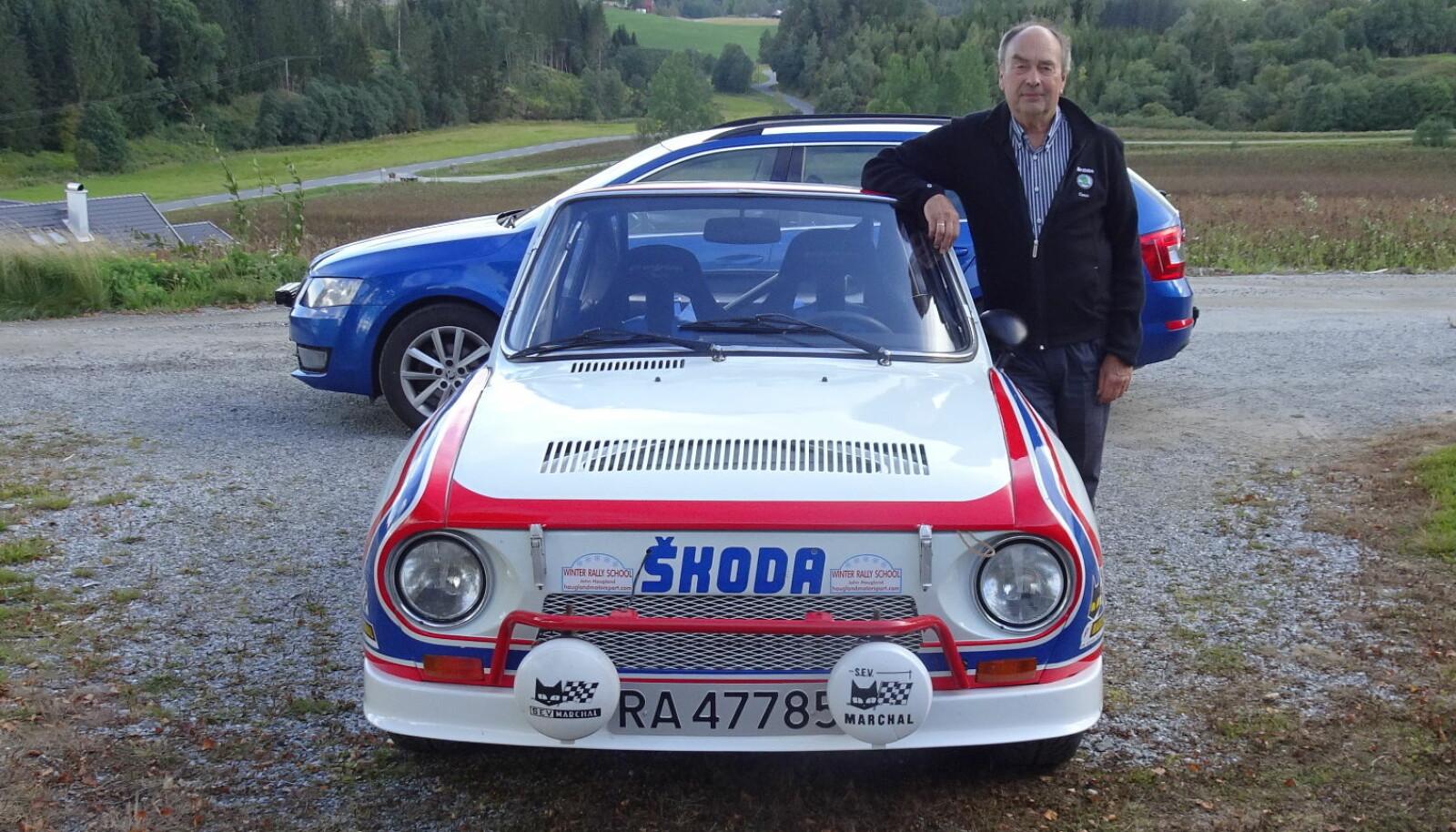 <b>FANT GULL:</b> Rallyvinneren John Haugland, her med sin 130RS, reddet Skodas frynsede rykte før Volkswagen tilførte merket sårt tiltrengte penger og kvalitet. Knapt noen fører har vunnet så mange billøp for Skoda gjennom tidene.