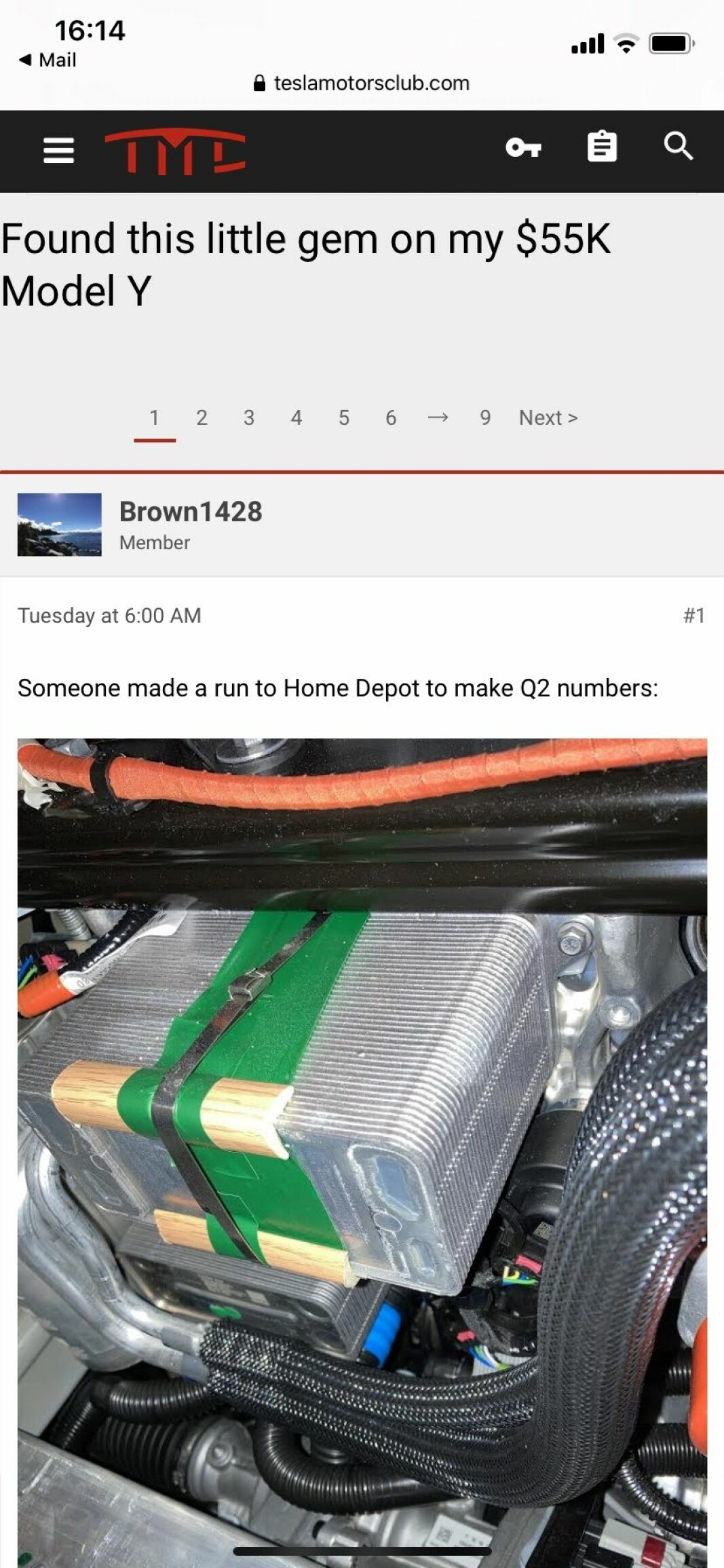 <i>Skjermdump fra Tesla Motors Clubs forum</i>