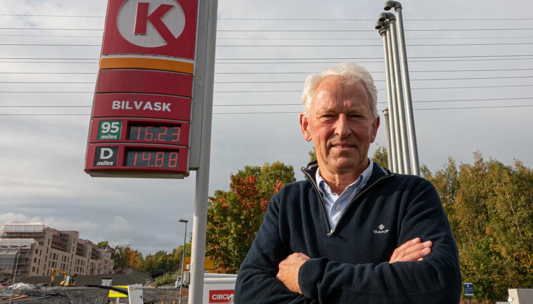 PRISBYKS: Prisen steg 2,63 kr/literen mens Per Anders Berge fylte. OBS: Bildet er tatt ved en annen Circle K-stasjon.