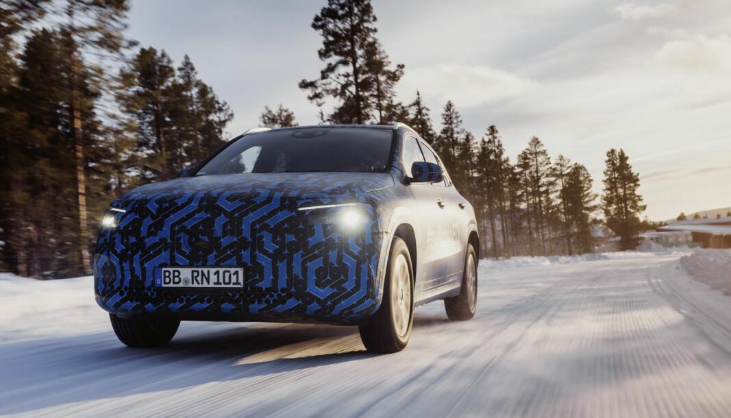 TEST: Prototype EQA under test på svenske vinterveier tidligere i år.