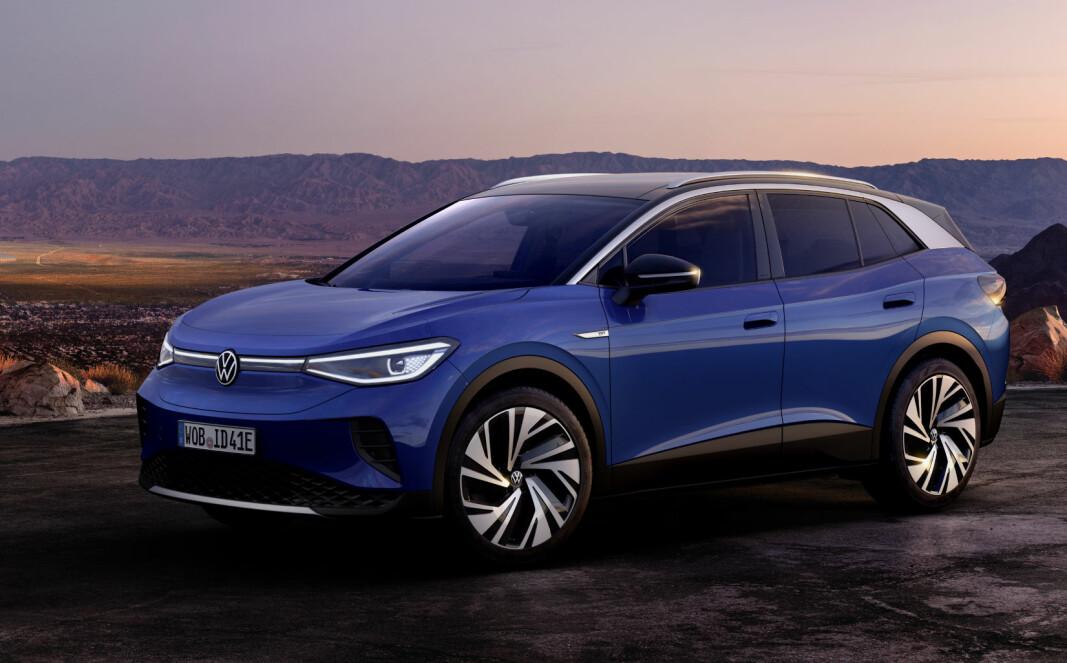 <b>PÅ VEIEN I JANUAR:</b> Lanseringsmodellen Volkswagen ID.4 1ST Max.