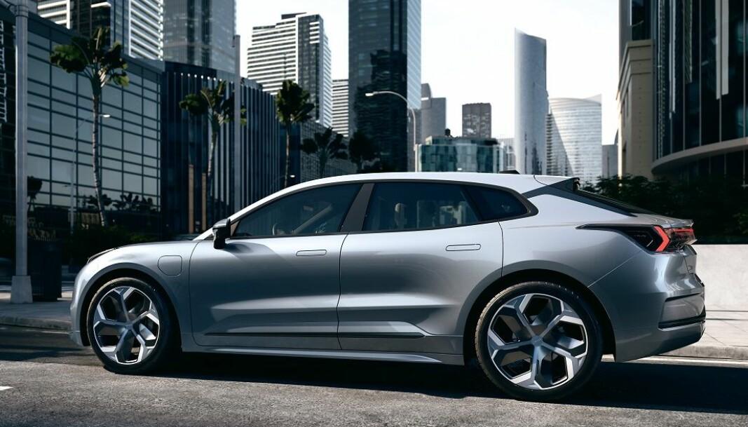 <b>BLANDING: </b>Hva skal man si om dette designet? Litt Tesla, som går over i Polestar og blir litt Jaguar I-Pace?