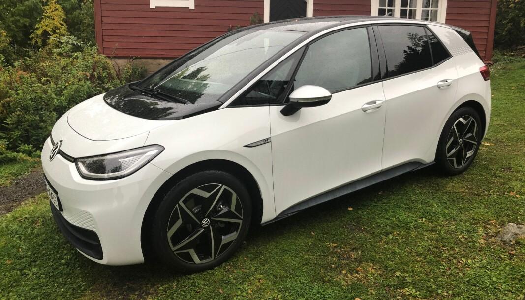 FOLKEBIL: VW ID.3 blir et vanlig syn på norske veier.