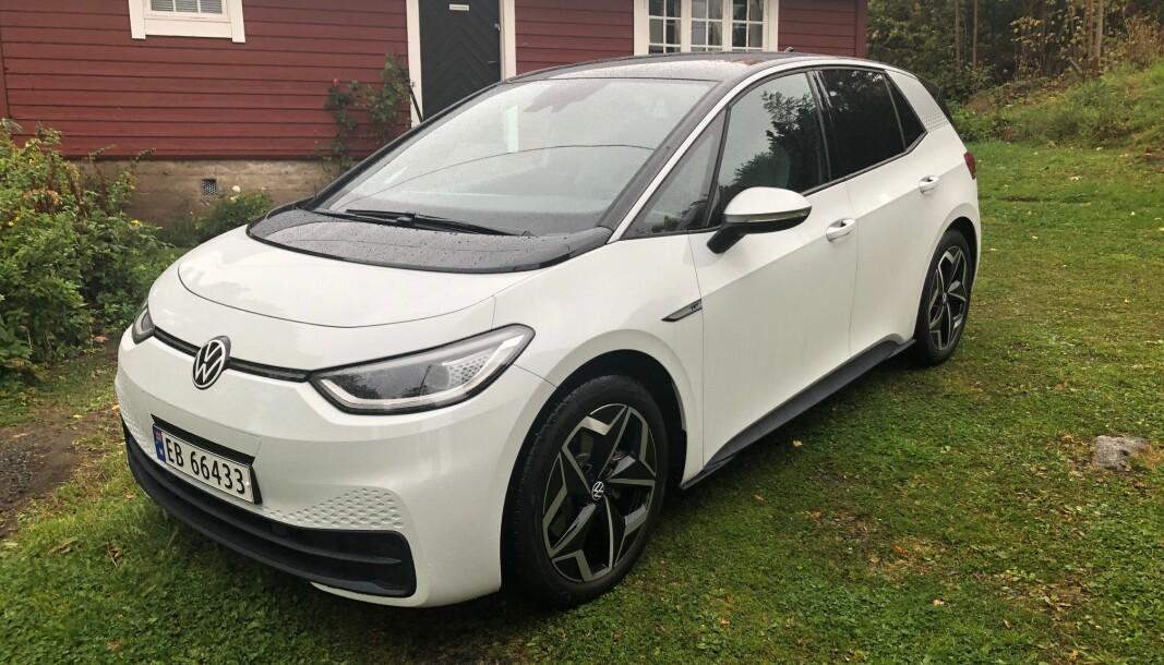 FOSSER FREM: VW ID.3 topper registreringsstatistikken i oktober som i september og kan fortsatt bli nummer en i 2020.
