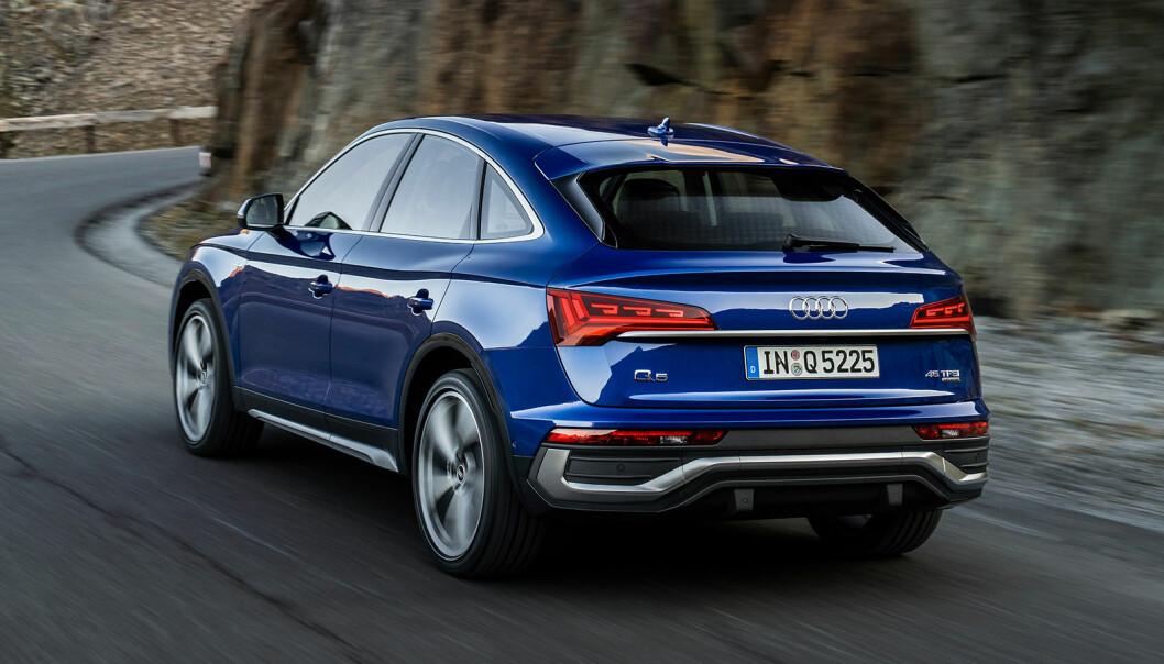 <b>SENT, MEN GODT?</b> Audi hoppet etter BMW og Mercedes på coupé-SUV-trenden, nå med Q5.