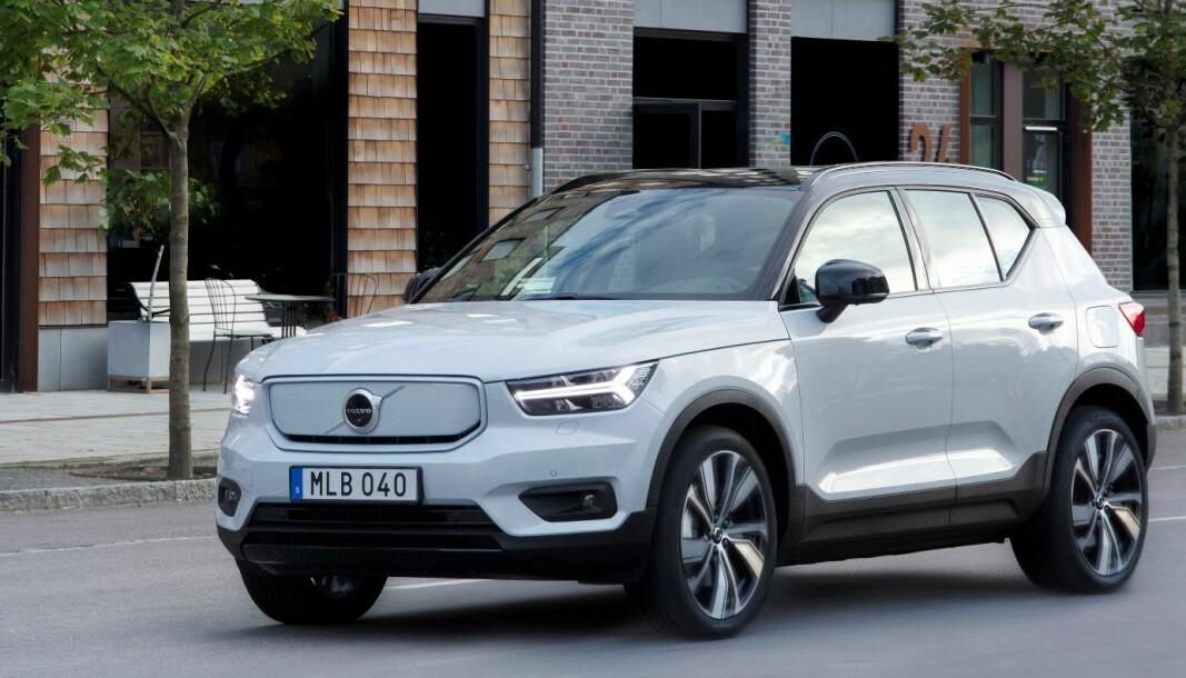 335 KILOMETER: Det er rekkevidden til Volvo XC40 i henhold til amerikanske EPAs målenormer, som er kjent for å være mer realistiske enn de europeiske.
