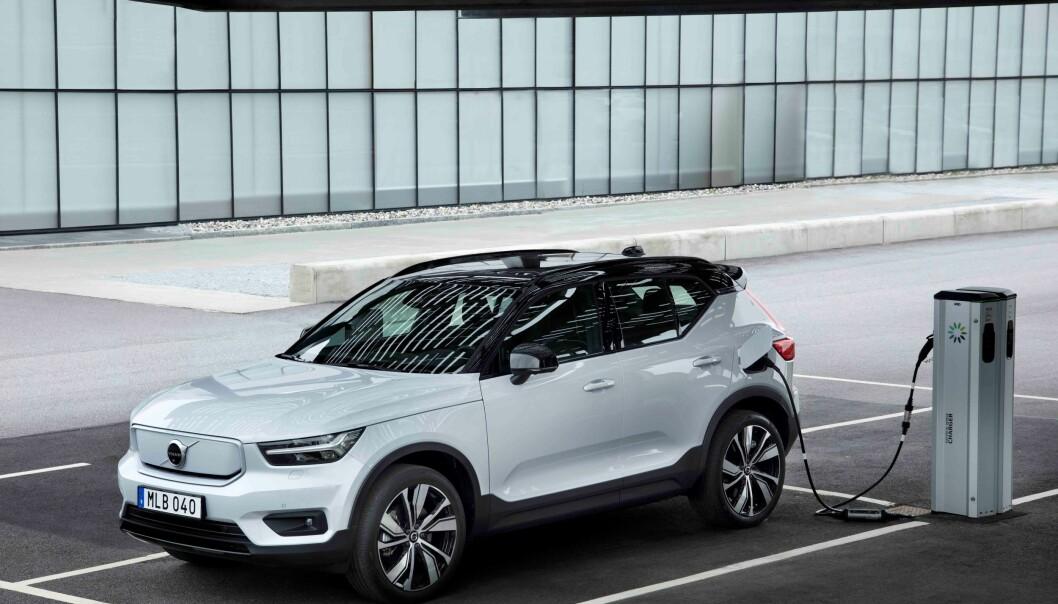 <strong>PÅ VEI:</strong> Volvos første helelektriske modell, XC40 Recharge, kommer på norske veier innen utgangen av året.