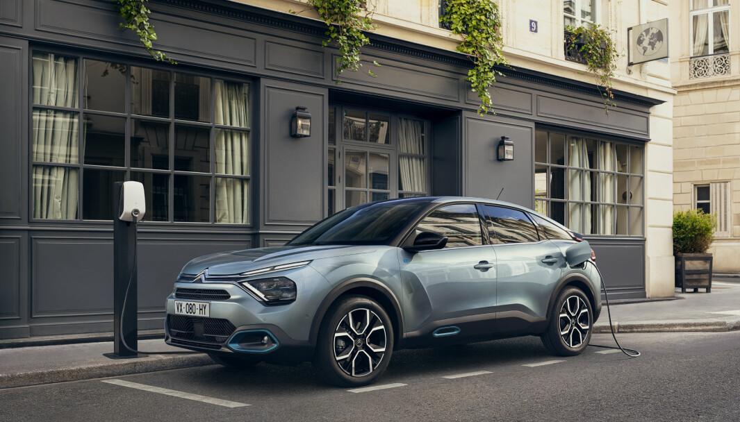 NYKOMMER: Helelektriske Citroën ë-C4 blir rimelig her i Norge.