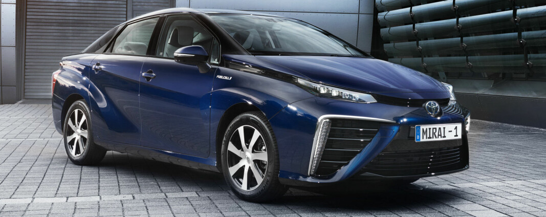 <b>FØR…:</b> Toyota Mirai 2015-modell.