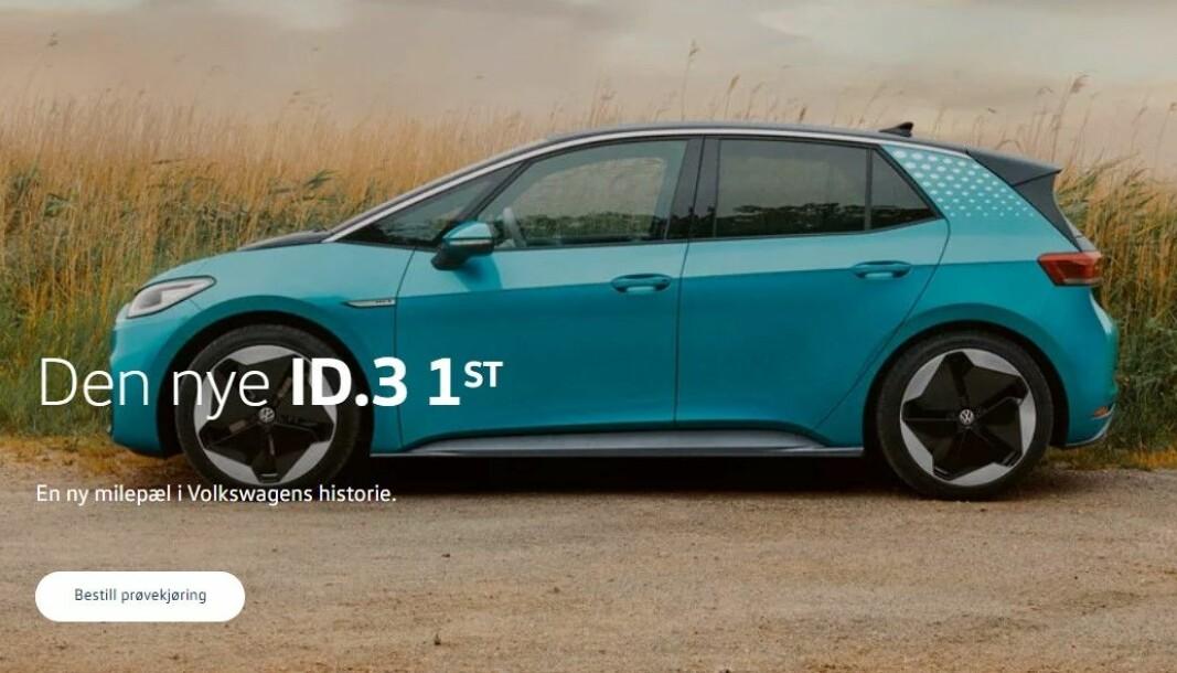 <b>KAMPANJE: </b>Førsteutgaven til ID.3 markedsføres fortsatt tungt hos Volkswagen.
