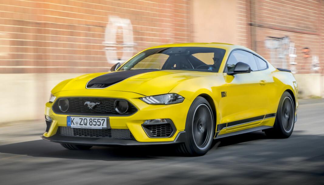 RÅSKINNET: Som en liten pause fra alle elbilnyhetene, kommer den spenstigste Mustangen