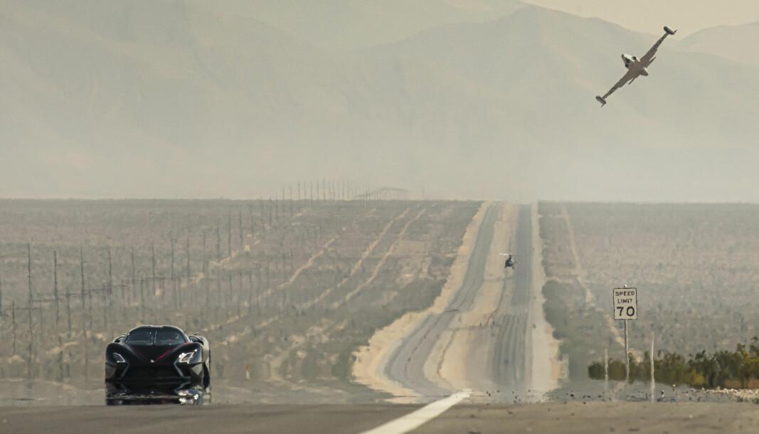GÅR UNNA: Shelby Supercars (SSC) Tuatara smadret den forrige verdensrekorden for produksjonsbiler.