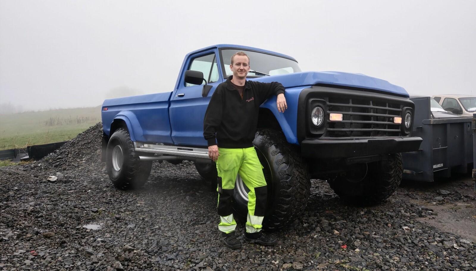 <strong>XXXXL: </strong>Morten Stuve tilhører et lite, men voksende, entusiastmiljø rundt verdens mest solgte pickup, Ford F-serie.