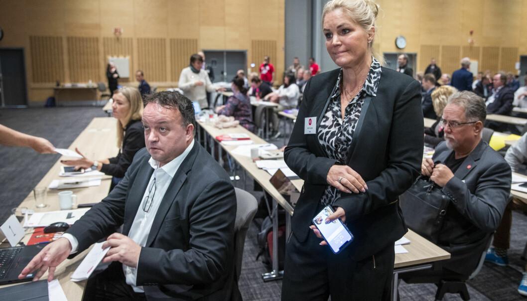LEDERDUO: En enstemmig nominasjonskomité i FNB gikk inn for delt lederverv for Frode Myrhol og Cecilie Lyngby.