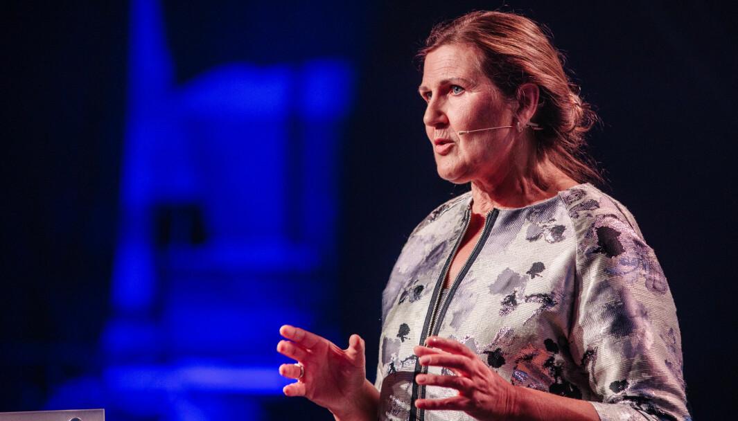 HALVERTE UTSLIPP: Vegdirektør Ingrid Dahl Hovland vil ha halvert klimautslippene fra vegvesenets virksomheter innen 2030.
