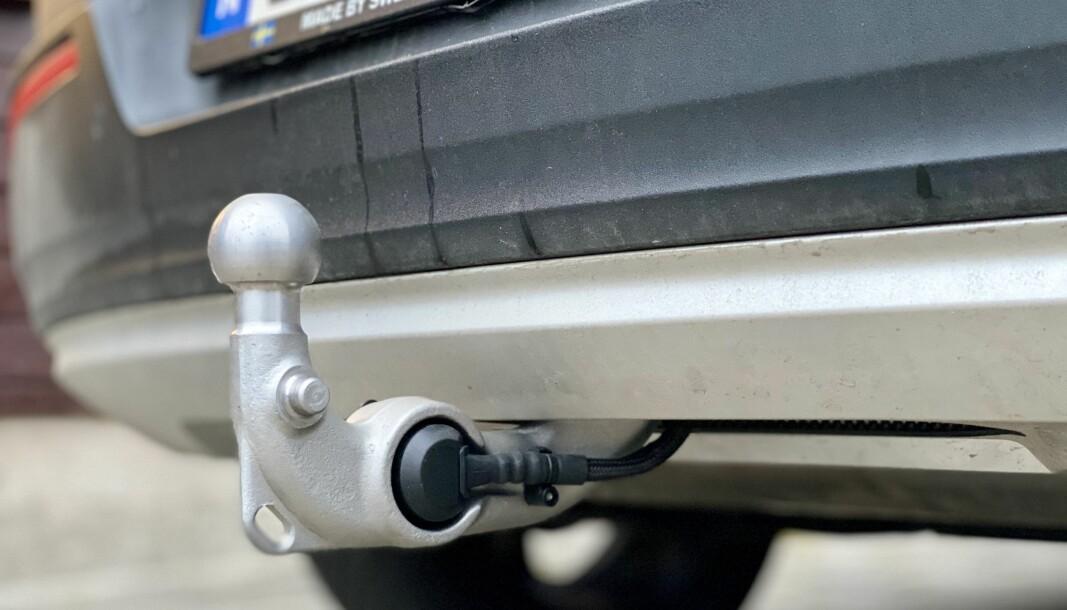 DEN NORSKE BILDRØMMEN: Hengerfestet på en ladbar Volvo XC40.