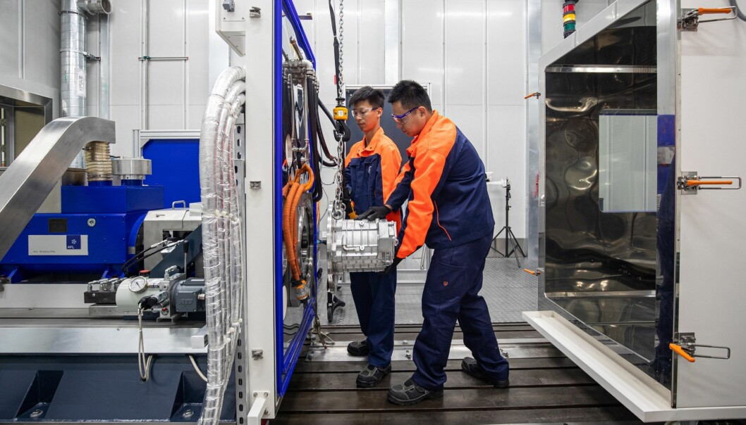 <strong>LØFTERIKT:</strong> Arbeidet på Volvos nye laboratorium i Shanghai er allerede i gang.