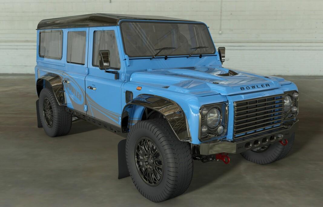 MUSKULØST COMEBACK: Land Rover har latt underbruket Bowler lage denne helt nye Defender-utgaven som har 575 hester.