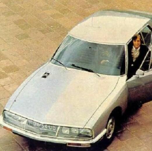 """<span class=""""font-weight-bold"""" data-lab-font_weight_desktop=""""font-weight-bold"""">BIL-FINTE:</span> Cruyff kjørte Citroën SM fra 1973, også etter at han flyttet til Spania og ble trener for Barcelona."""