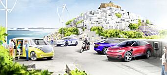 VW tester nullutslippsdrøm på gresk ferieøy
