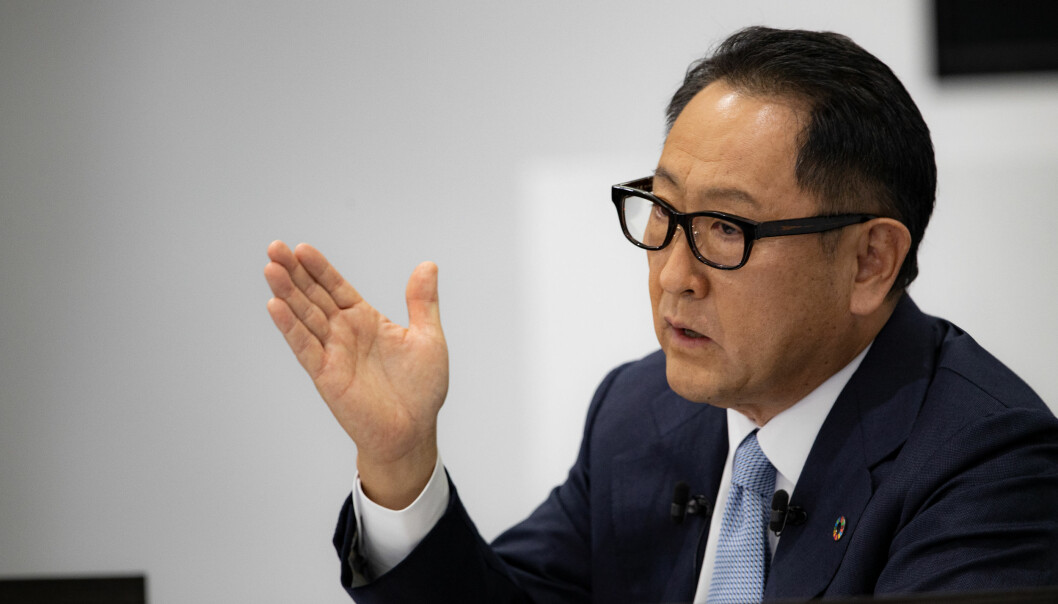 <strong>GODE TALL: </strong>Toyotas toppsjef Akio Toyoda har fart på salget.