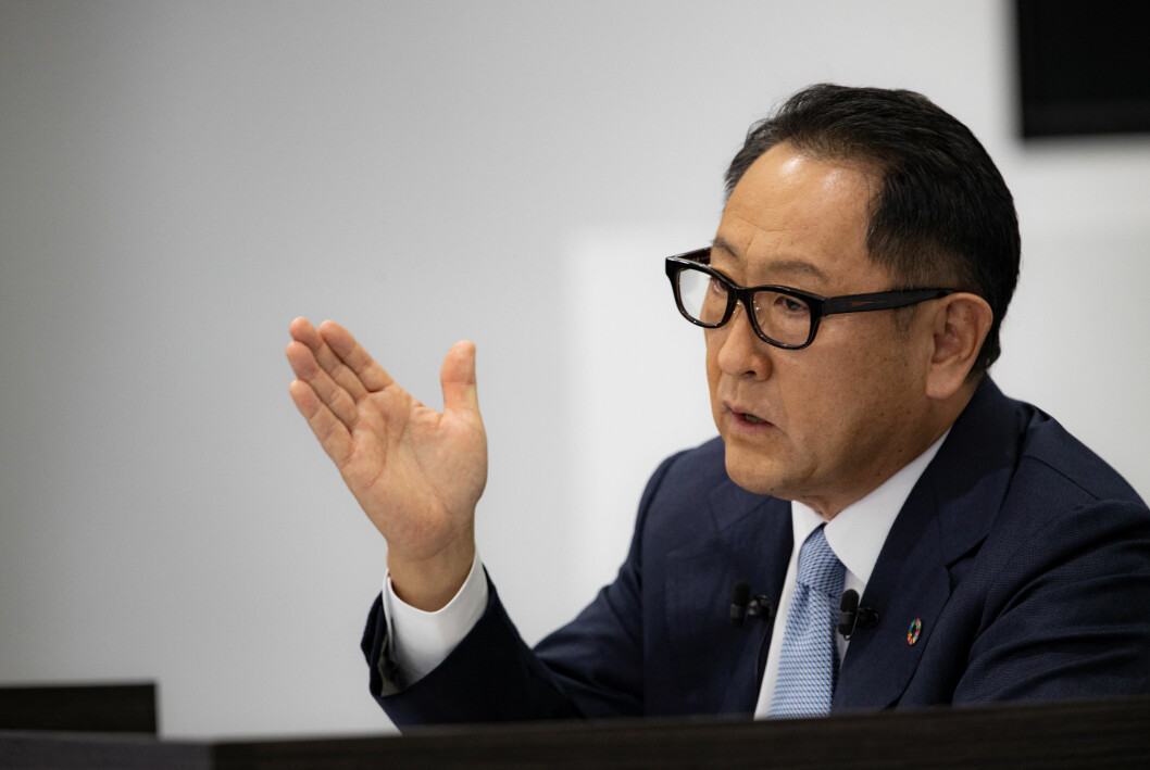 ELBIL-BREMS: Akio Toyoda, toppsjef i Toyota.