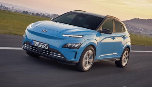 Hyundai Kona EV med mulig bremsefeil