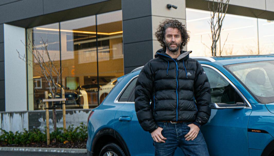 TAPTE: Eirik Skjærseth tapte i lagmannsretten mot Hellestø. Nå kjører han en Audi e-tron.