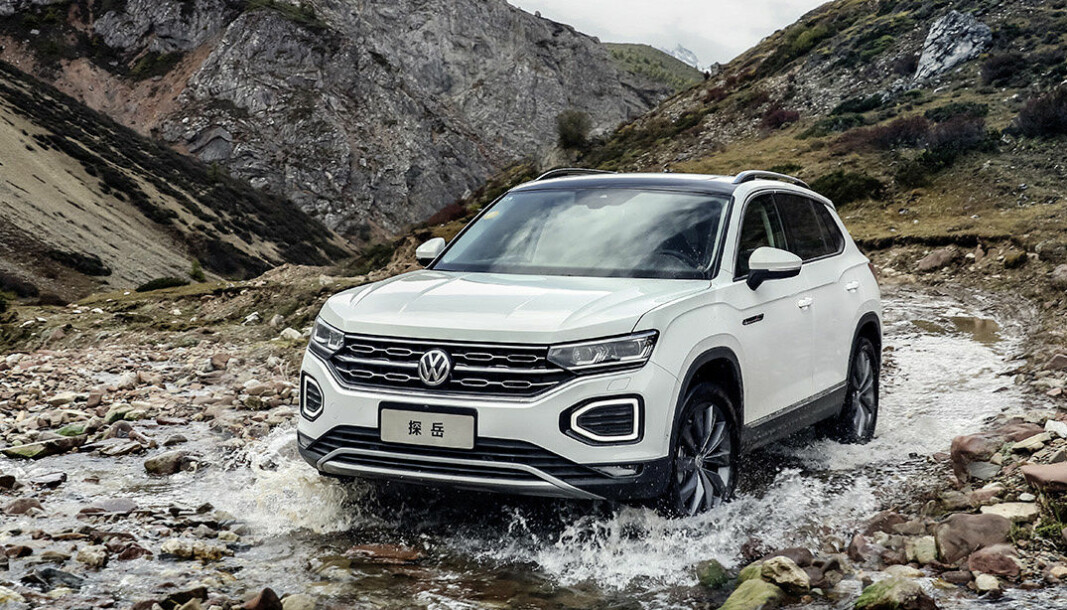 KINA-SUV: Volkswagen Tayron er en ukjent modell hos oss, men skal produseres i Tyskland fra 2024.