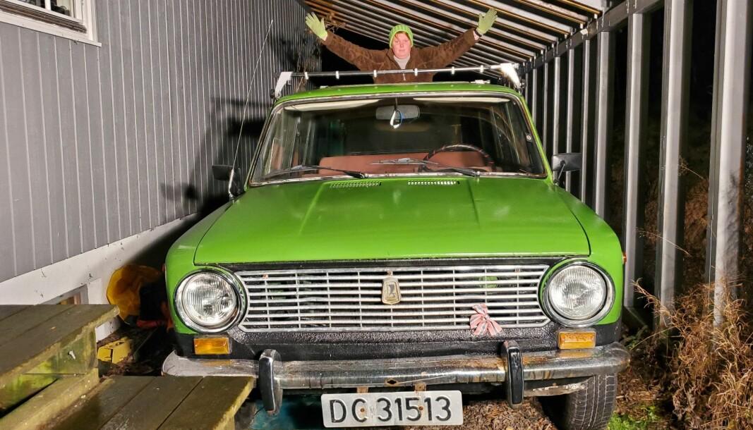 """<span class=""""font-weight-bold"""" data-lab-font_weight_desktop=""""font-weight-bold"""">GRØNNE VERDIER:</span> Heidi Skau tilhører en ny generasjon som tar vare på bilene som nordmenn kjøpte mange av på 1970- og 80-tallet."""