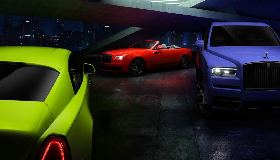 FRISKT: Luksusmerket Rolls-Royce har tatt seg friheter på fargefronten.