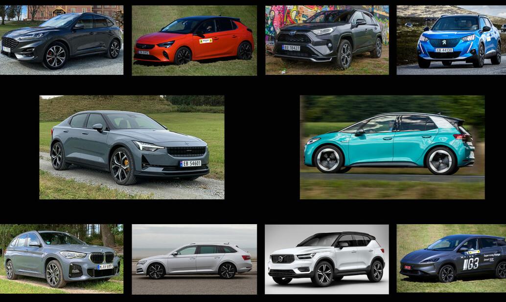 Ingen bensin- eller dieselbiler blant finalistene