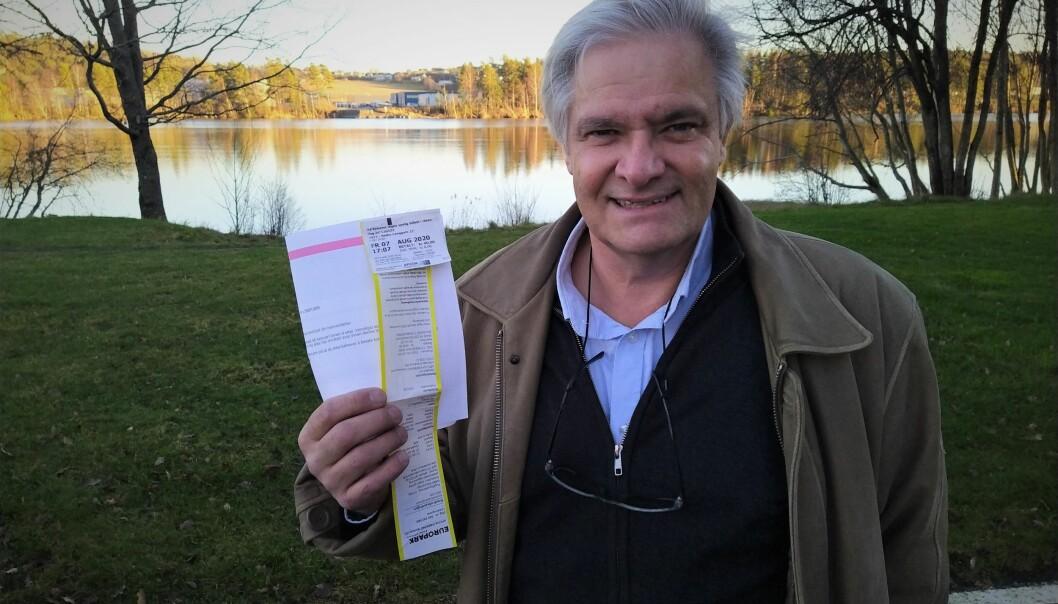KVITTERING OG BOT: Harald Kvinnsland Dollst med kvittering og bot, som han plutselig slapp.
