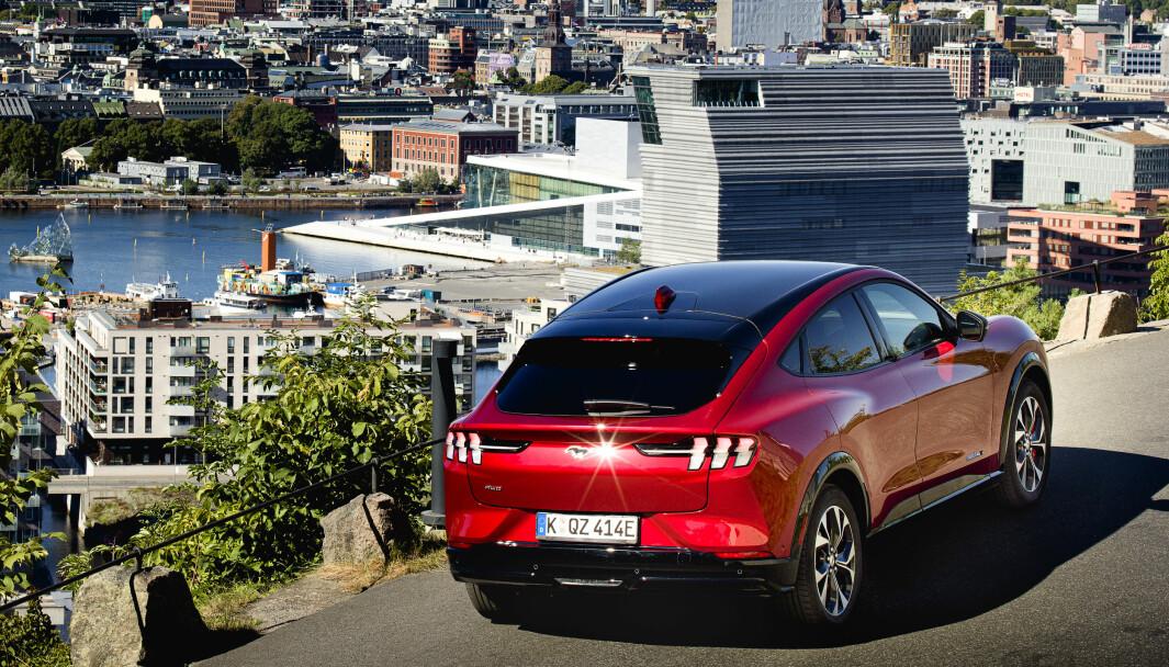NORSK NYTELSE: Ford Mustang Mach-E er landets mest solgte bil for øyeblikket.