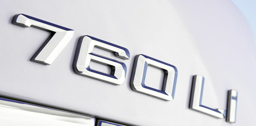 GAMLE DAGER: En gang kunne man stole på at dette var en BMW 7-serie med en 6,0-liters motor med bensininnsprøytning og i lang utgave.