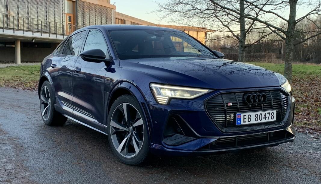 BILLIGERE: En slik Audi e-tron S 60 Sportback, som kostet 910.220 kroner, er blitt 20.800 kroner billigere og koster nå 889.420 kroner.