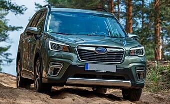"""<span class=""""font-weight-bold"""" data-lab-font_weight_desktop=""""font-weight-bold"""">HUMPETITTEN:</span> Fronten på Subaru Forester er et velkjent tryne på norske veier – og kjerreveier."""