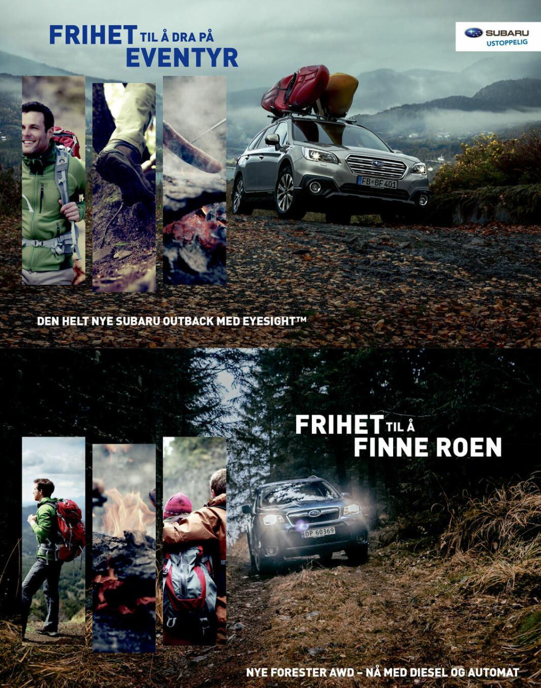 """<span class=""""font-weight-bold"""" data-lab-font_weight_desktop=""""font-weight-bold"""">ANNONSESTIKK: </span>Subaru har markedsført Forester i Norge i over 20 år med vekt på fritid, stubber, stein og hytteliv."""