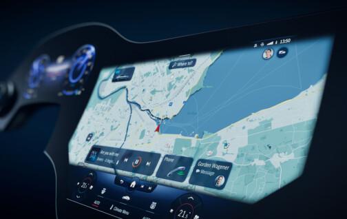 Mercedes ruller ut gigantskjerm i ny elbil