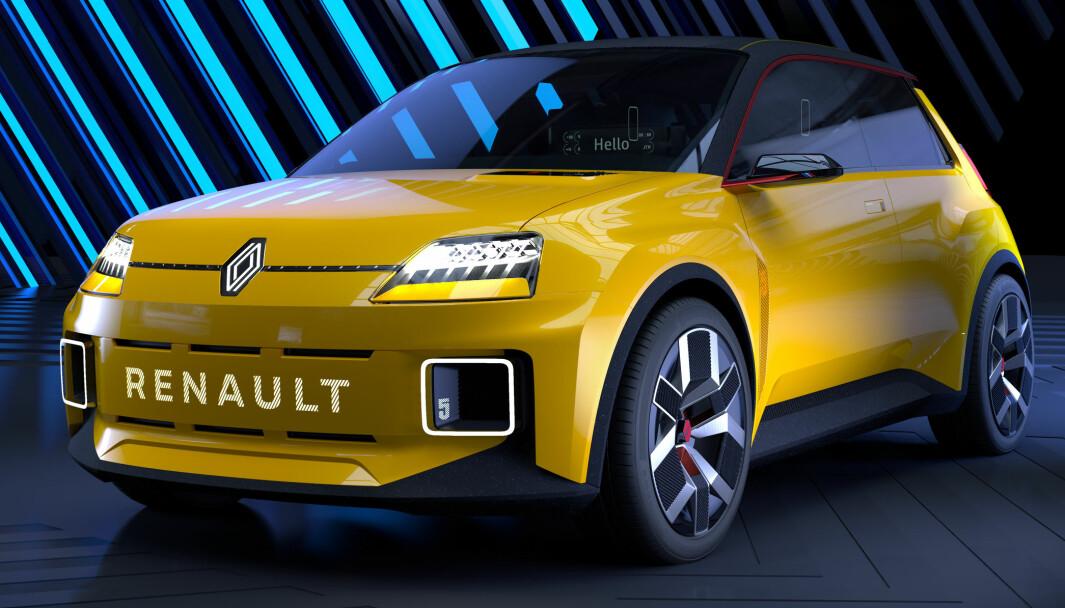 DÉJÀ VU: For å symbolisere sin fornyelse henter Renault frem en modell fra fortiden – Renault 5 – her som elektrisk prototype.