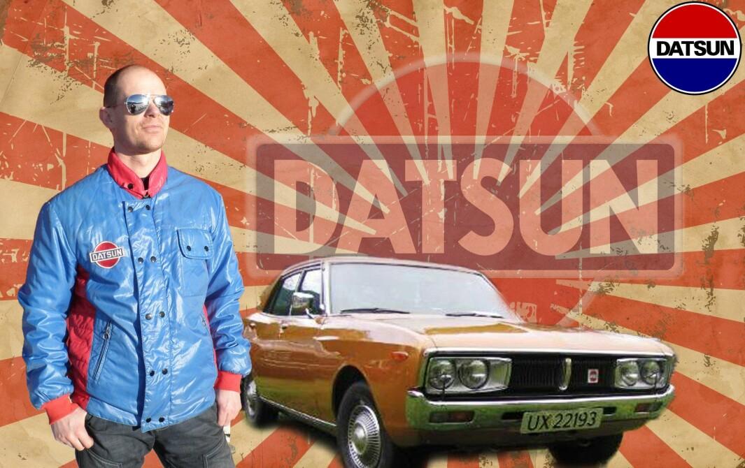 DATSUN: Kjetil Rannstad drømte om «Datsun 200L med rekkesekser» til 18-årsdagen. Lidenskapen har ikke dempet seg.