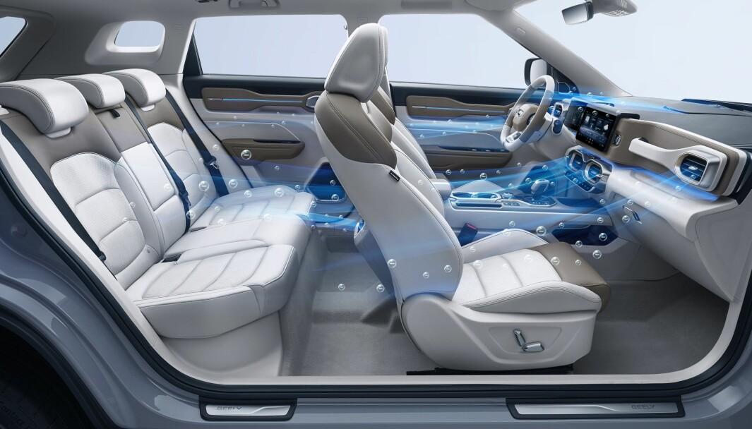 FLYTTER VIRUS: Forskere har sett på hvordan smitterisiko avhenger av luftstrømmene i bilen.